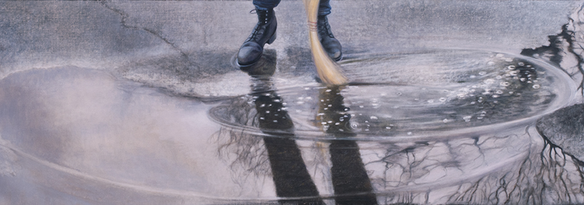 "You Sweep Them Away as with a Flood  20x58""  2015"