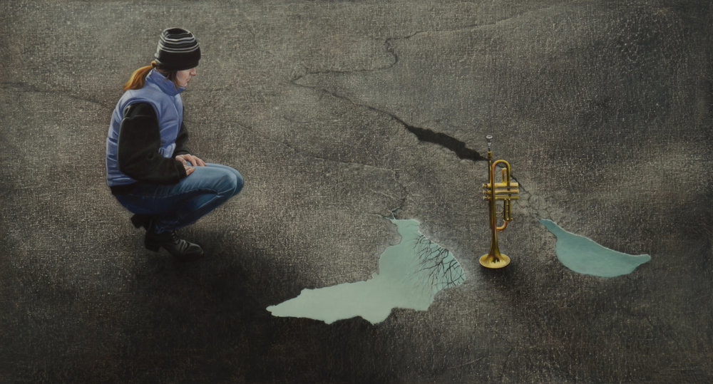 """Last Trumpet     44x80""""     2012"""