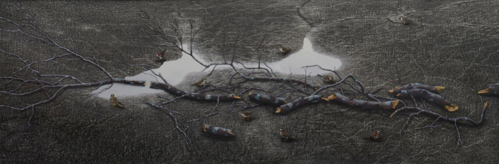 "Sparrows     27x80""     2012     (Sold)"