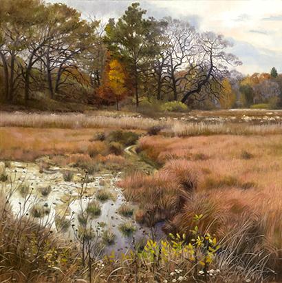 """Bluff Spring Fen Oct 31  20x20""""  2016"""