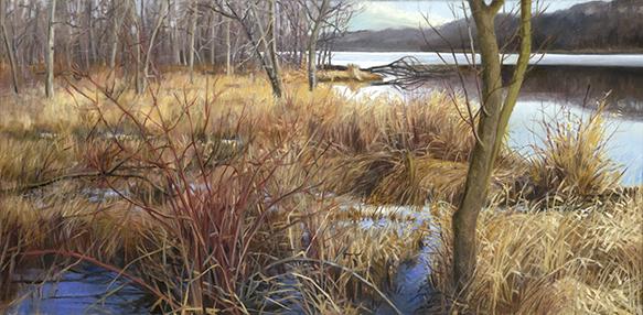 "Ferson Creek Fen Dec 11  12x24""  2015 (sold)"