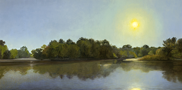 Fox River South End Park West Dundee, Sept  15x30 2016 (sold)