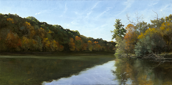 "Fox River Les Arends Forest Preserve Oct 19  12x24""  2016 (Sold)"