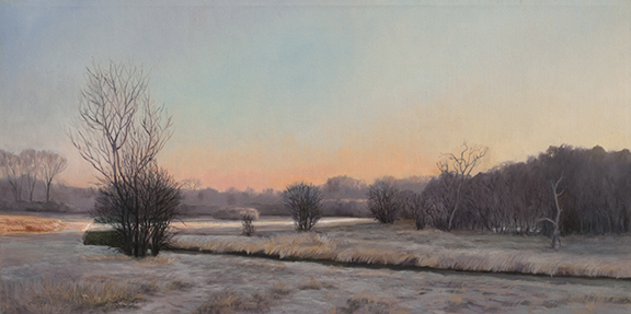 "March 26 Lincoln Marsh 12x24"" 2014 (sold)"