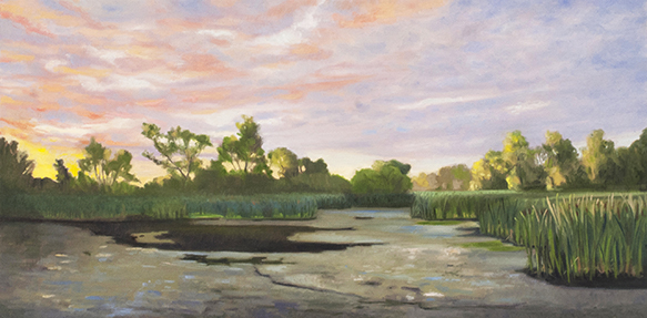 "July 17 Lincoln Marsh 10x20"" 2014 (sold)"