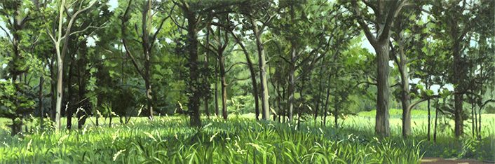 "July 18 Lincoln Marsh 8x24"" 2014 (sold)"