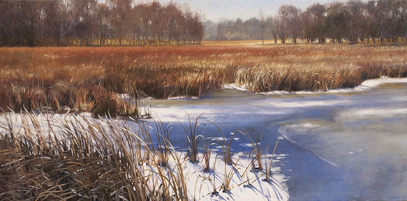 "November 21 Lincoln Marsh 15x30"" 2014 (sold)"