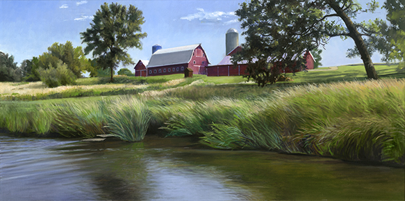 "Marvel Davis Farm Big Rock Creek 15x30"" 2017 (Sold)"