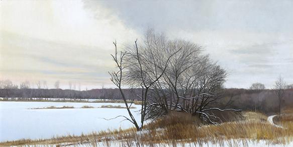 """McKay Overlook Toward Otter Creek, Jan. 17, 15x30"""" _ 2018"""