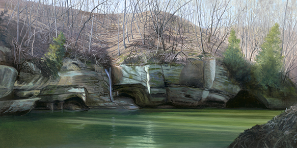 "Down on Indian Creek, March 15, 18x36"" - 2018"