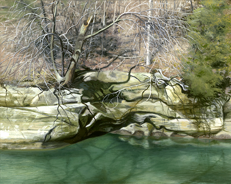 """Indian Creek, March 15, 16x20"""" - 2018 (sold)"""