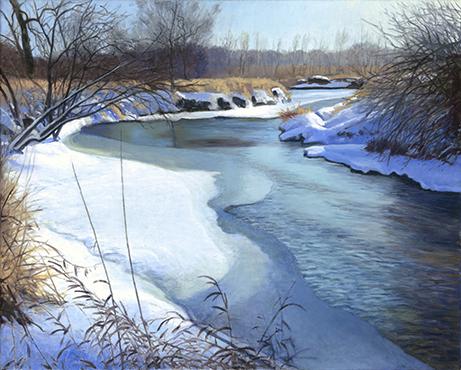 Blackberry Creek, Jan 17, 16x20 - 2018 (SOLD)