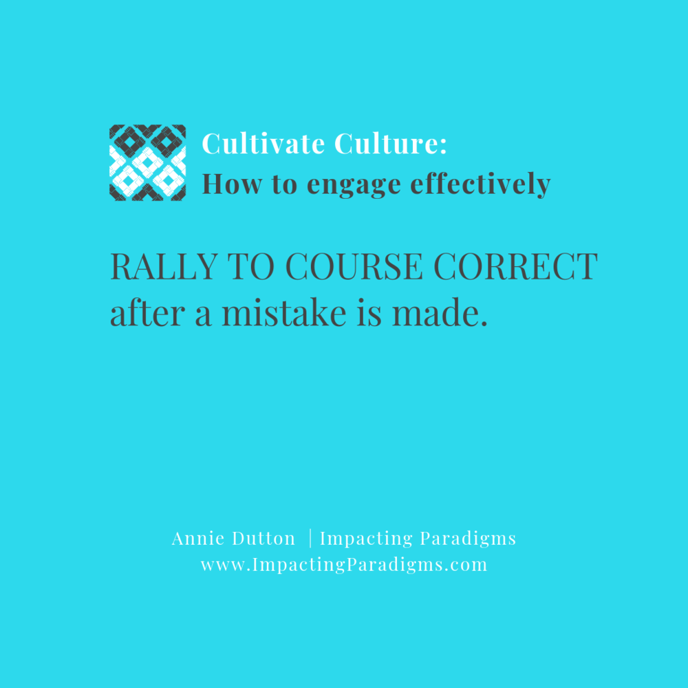 - When mistakes are made, everyone rallies to course correct and learn from it. The people know that there is strength in numbers and that success for one is tied to success for all.