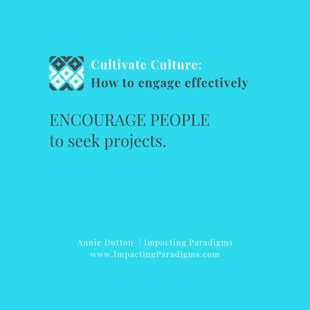 - Similar to the previous item, in healthy organizations people are given the autonomy to proactively seek out ways they can share their expertise to help others succeed.