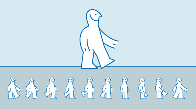 THE IKEA DUDE: I drew the character in his different walking positions.