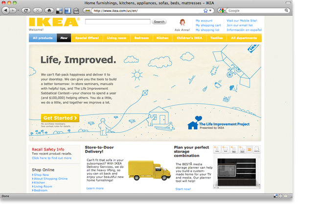Illustrations where used on the IKEA homepage.