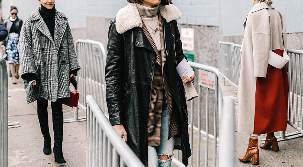Heavy coats abound at a previous NYFW