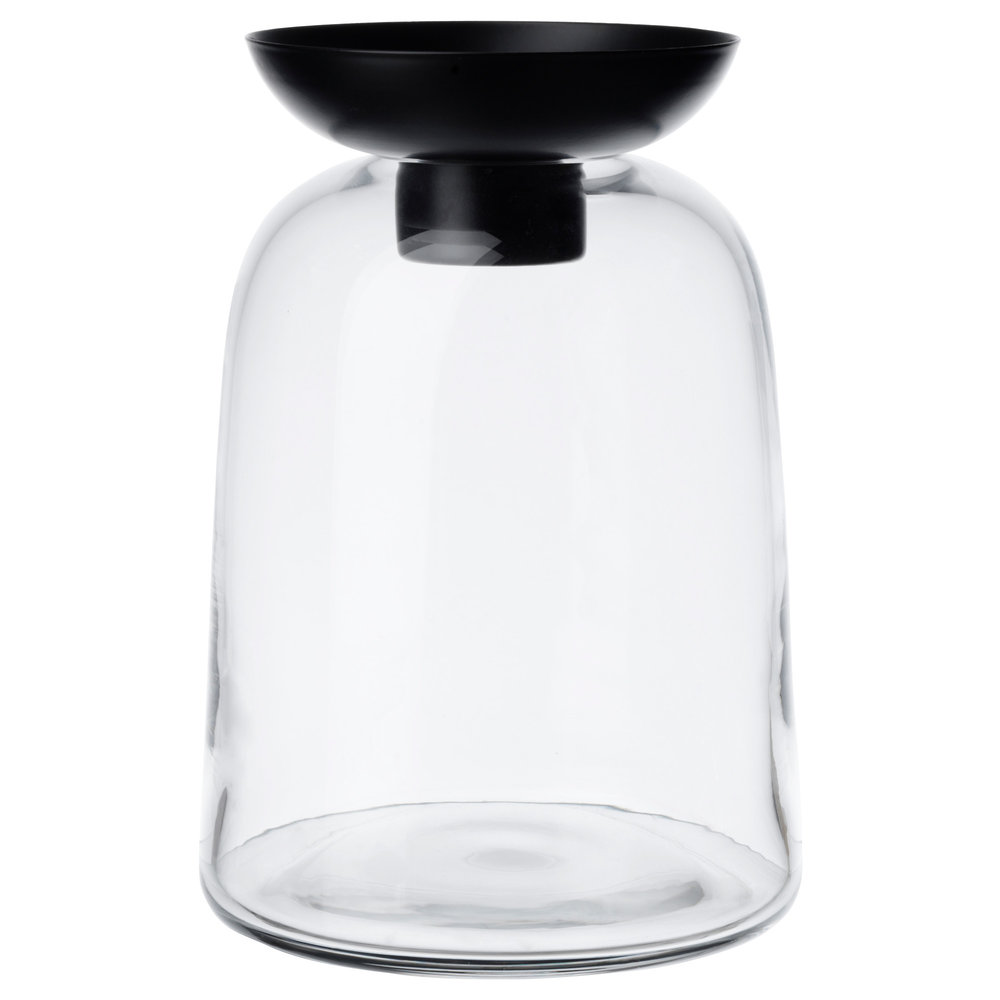 Vinter 2017 Vase - Vase/Tealight holder, clear glass, $9.99