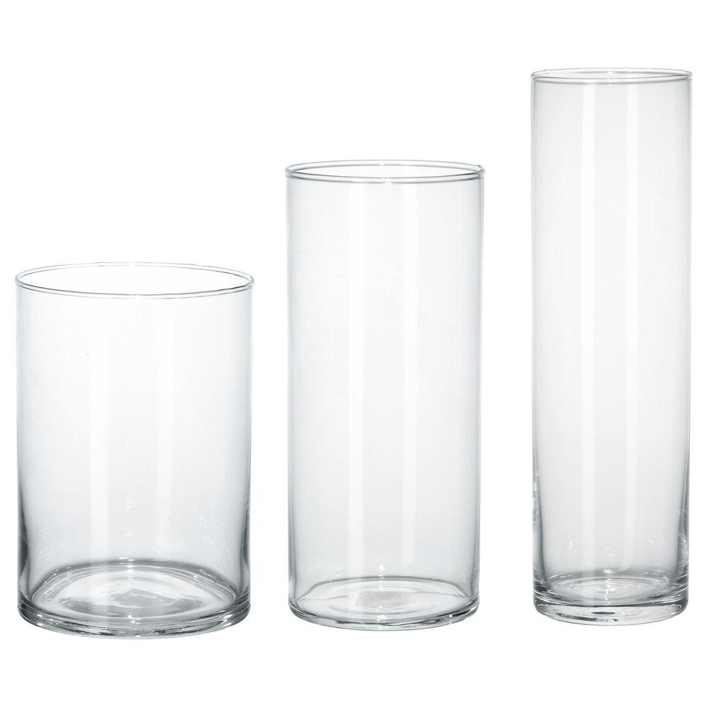 Cylinder Vase - Set of 3, clear glass, $14.99