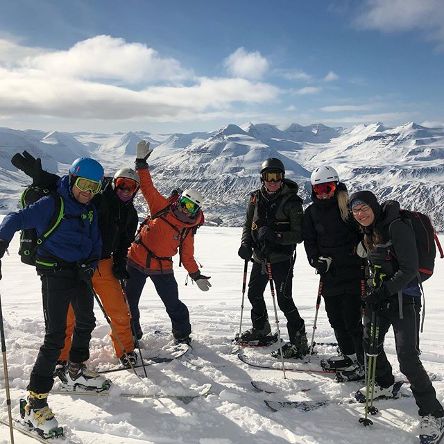 Great day out with this happy crew for our annual skitouring workshop last weekend! #skiiceland #skitouringiceland #trollpeninsula #skitouring #avalanchetraining #stenbergguides #skeidguesthouse @stenbergguides @lisabjrstrm @myriamdalstein