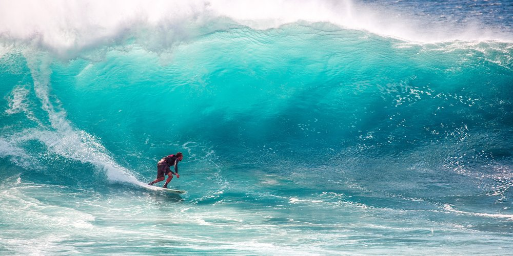 Okay, FULL transparency, that's not actually me, because that wave is huge and scary. One day, Philippe. One day...