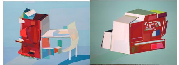 Quartos imaginários, 2015 / Ambientes imaginários, 2016