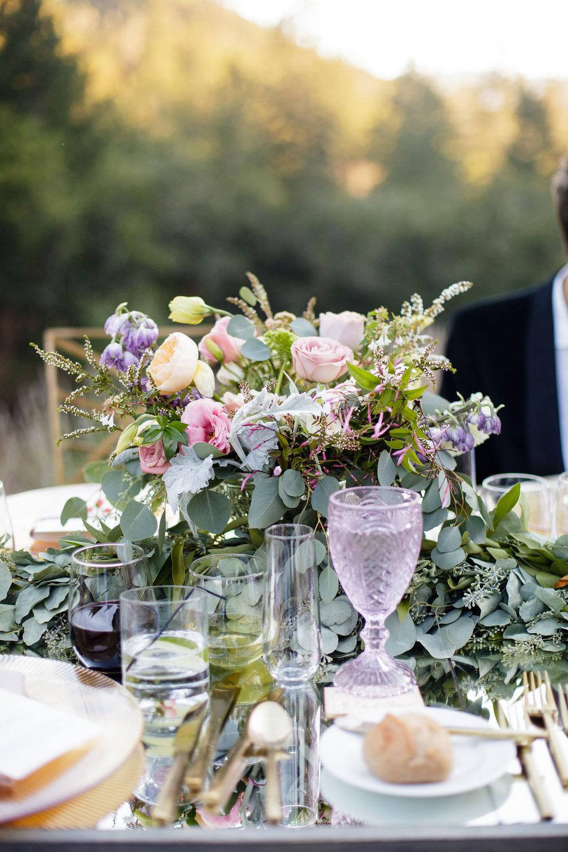 Elegant Napa Wedding Flowers Tablescape