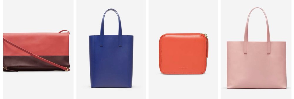 Everlane totes, crossbody and wallet