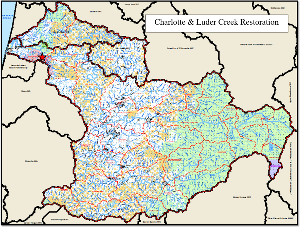 Charlotte & Luder Creek Map