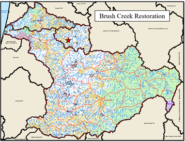 Brush Creek Restoration Map