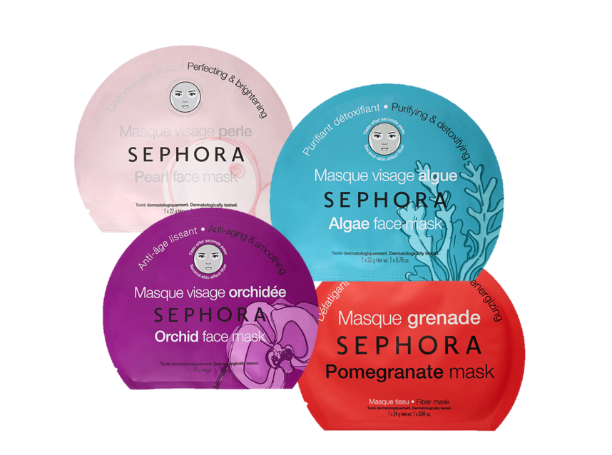 Sephora Face Mask - Each sheet face mask is meant to attack a different problem. From acne to dry skin, these leave your face with the perfect fresh feeling glow