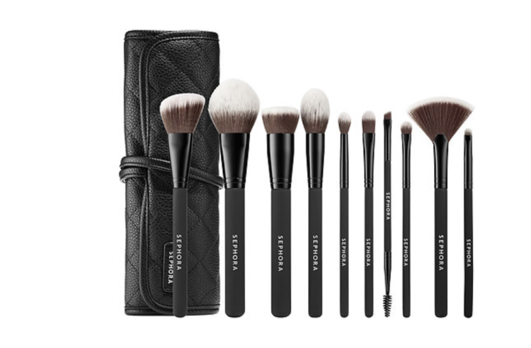 Sephora Collection Brush Set - My absolute favorite brush set by Sephora Collection is an exclusive all-in-one bundle of every brush you will need to apply a wide variety of products. Even better, these brushes are neatly kept in this perfect folded case so you can take them with you on the go.