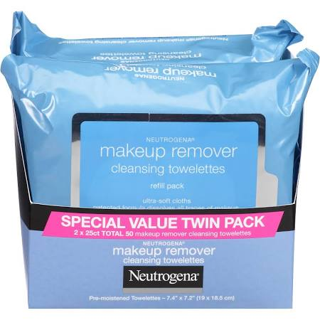 Neutrogena Ultra-Soft Makeup Remover Cloths - Neutrogena products are amazing for skin care. I have very sensitive skin and sometimes it can be hard to find the perfect face wash or towelette that will take my makeup off completely without irritating my skin; however, with Neutrogena's ultra-soft makeup remover cloths, my makeup not only comes off with a few gentle movements, but my skin also feels soft,moisturized, and refreshed!