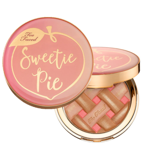 Too Faced Sweetie Pie Bronzer - Hello Sweetie Pies, this bronzer is for you. Giving off a natural glow, this four-toned bronzer illuminates each different color you need for that perfect, radiant look