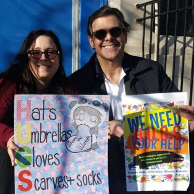 Thank you to PS 95 in Queens New York. Your donations of Hats, Scarves, Socks and Gloves to @hugs_usa will make many folks warm during these  extremely cold winter days. Thank you for the  students who made these amazing posters. #sharingthewarmthhugsusa