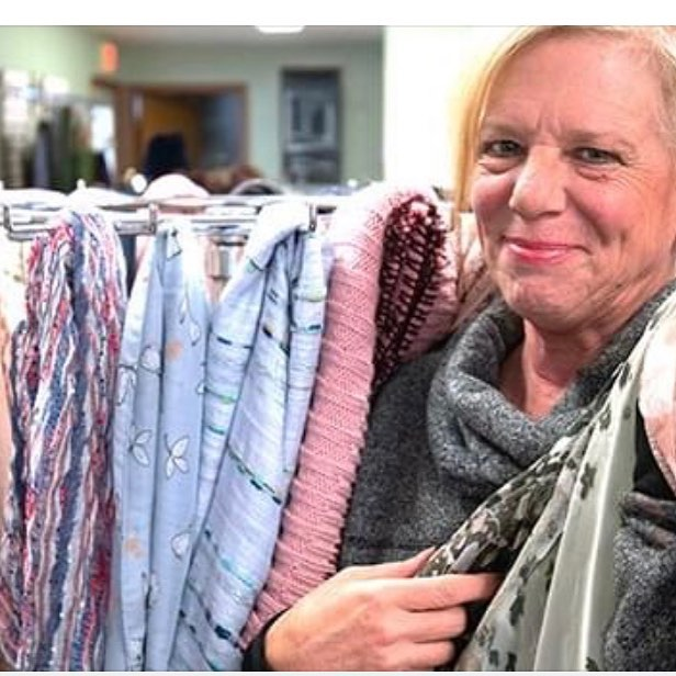 """Spring Fling' scarf sale to help homeless.... A big shout out to Tina Cacckello the brains and muscle behind this incredible fundraising event. """"Spring Fling"""" event happening today. #TinaCacckello is the  Founder and Director of her  Fashionable Consignment Boutique and owner of #TinasHairAffair in LakeGeorge  Tina arranged these beautiful new designer scarves and fashion accessories to be on sale in her adjacent consignment shop from noon to 5 p.m.  Today March 30,  Ms. Cacckello of a Lake George fashion boutique and salon is holding a fundraiser this weekend to raise money to aid the homeless as well as to assist local charities.  Cacckello  will be selling about 100 new designer scarves between today between noon and 5 to raise money for two charitable organizations — Shelters of Saratoga, and Lake George Lake George Region Women for W.I.N.. The latter charitable organization is calling the event their """"2019 Spring Fling — Shop for a Cause."""" The event, to be held at """"Reboutique"""" consignment shop at 2199 Canada St. adjacent to Tina's salon, includes refreshments and raffles. The shop features stylish clothing and accessories at discount prices. The new scarves were donated by sent to Cacckello by her cousin Anthony Cavaleri, who founded #HUGSUSA, a non-profit based in in New York City and is National Organization. #HUGSUSA collects and distributes Hats, Umbrellas, Underwear, Gloves, Scarves and Socks for homeless folks, families, lower income seniors and their pets.  Photo by Frankie Cavone"""