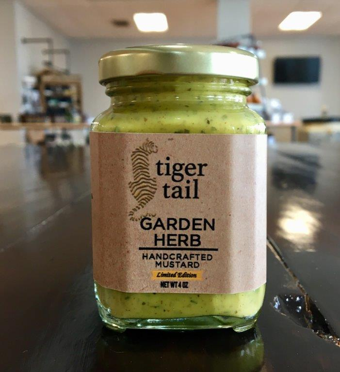 Garden Herb - A mild mustard taste with the fresh flavors of dill at the end makes this mustard suitable as a dressing for a potato or egg salad.