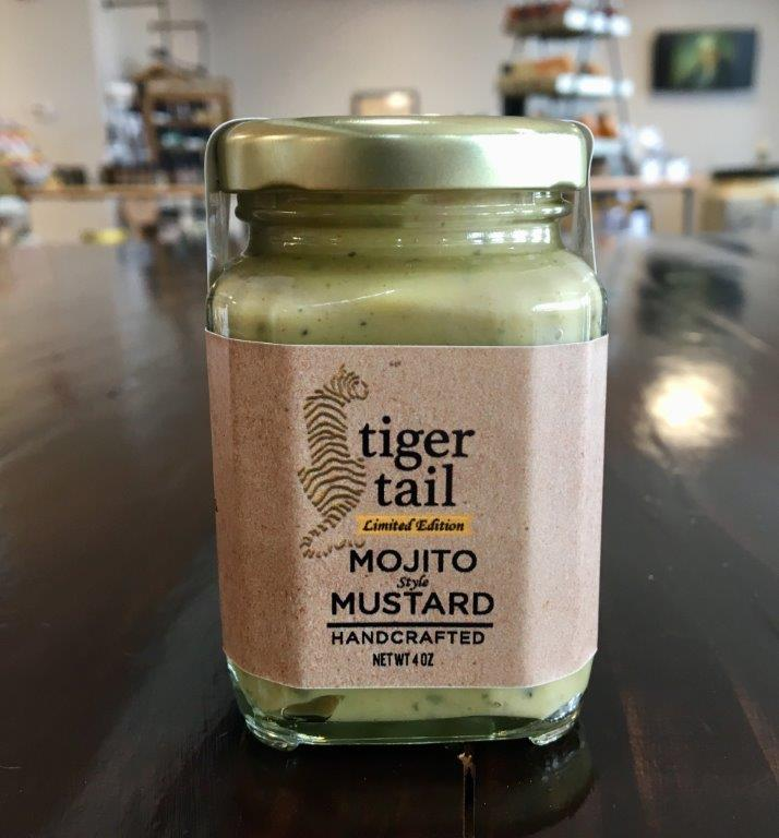 Mojito - Who else is in the mood for a refreshing mojito on Saturday afternoon? This new mustard has a rum flavor followed by a pleasing combination of spearmint & lime! This one pairs very well with a grilled chicken or a nice fruit chutney.