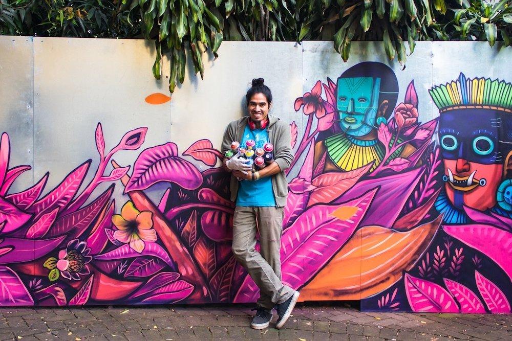 Hace un año, Saner, artista urbano mexicano, encabezóla 3ra edición de PICNIC Arts Media