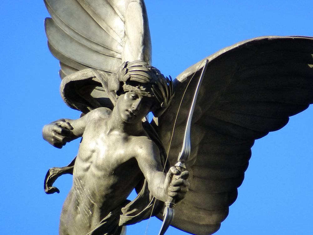Anteros , escultura por Alfred Gilbert. (Única representación artística)