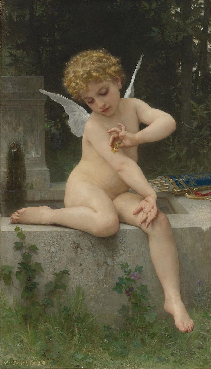 Cupido con una mariposa, William-Adolphe Bouguereau