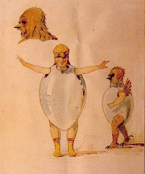 Ballet de polluelos en sus cáscaras