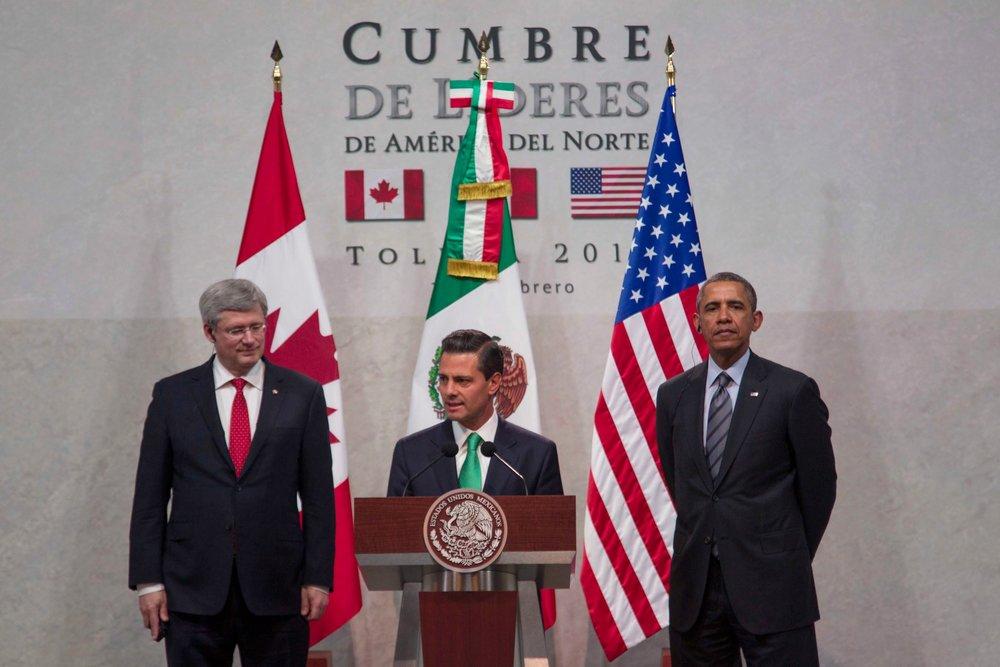 Fotografía de la Cumbre de Líderes de America del Norte 2016.
