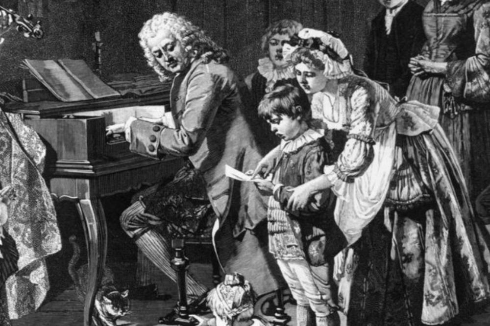 Bach con Maria Bárbara y sus hijos