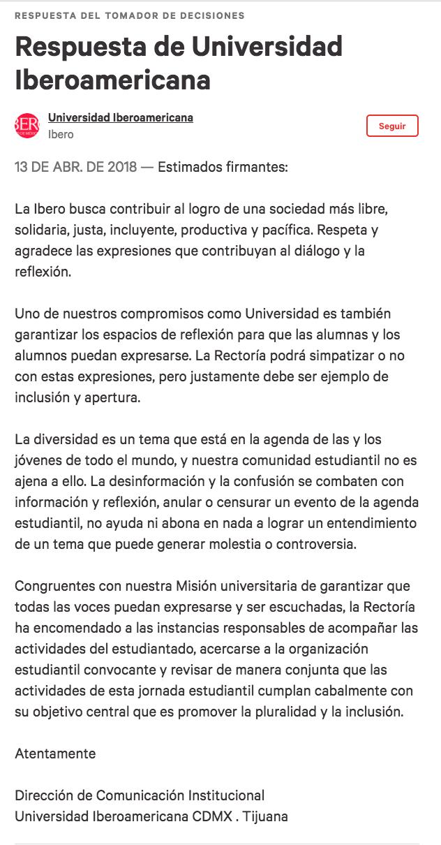 Change.org Ibero Plural Ibero