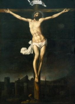 Cristo en la cruz  Sebastián López de Arteaga öleo sobre tela Museo Nacional de Arte INBA