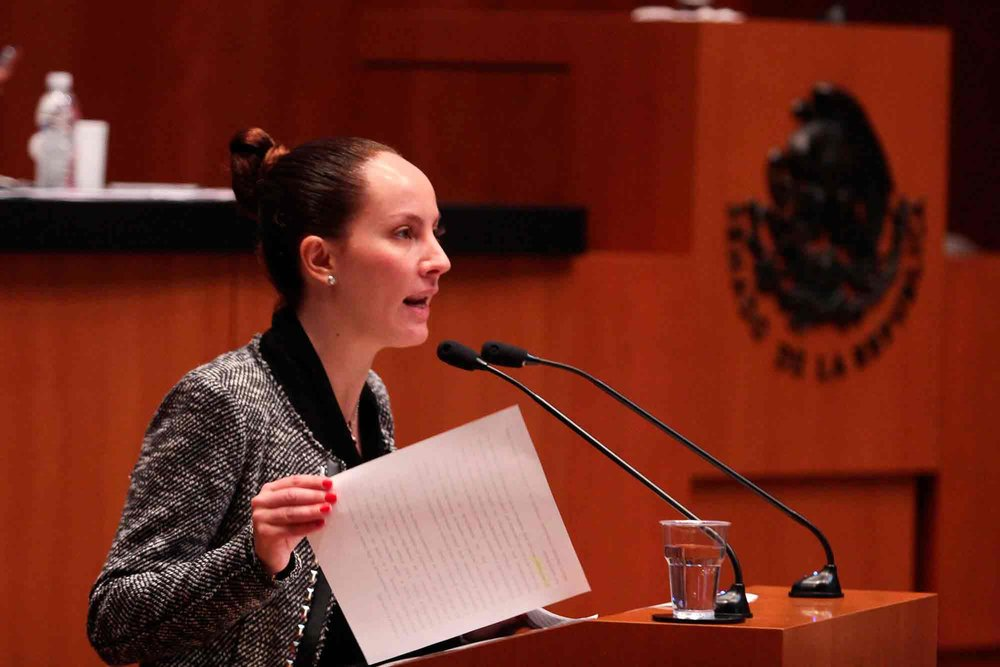 Gabriela Cuevas via Senado