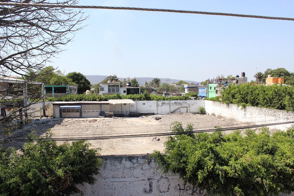 Terreno donde solía estar la escuela Cuauhtémoc en la cabecera municipal de Jojutla.