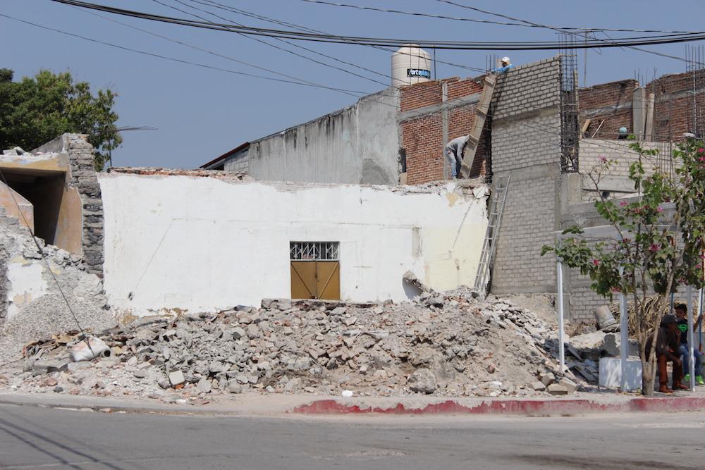 Derrumbe en Tlaquiltenango, Morelos.