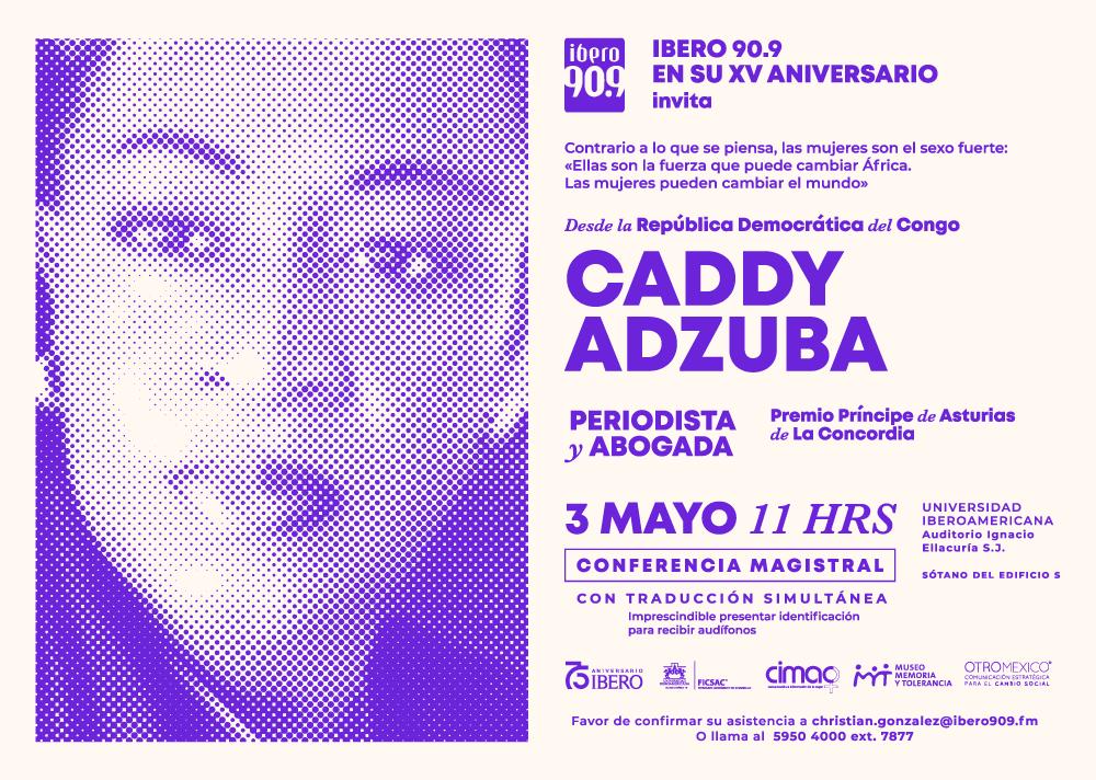 Caddy Adzuba en la Universidad Iberoamericana Ciudad de México